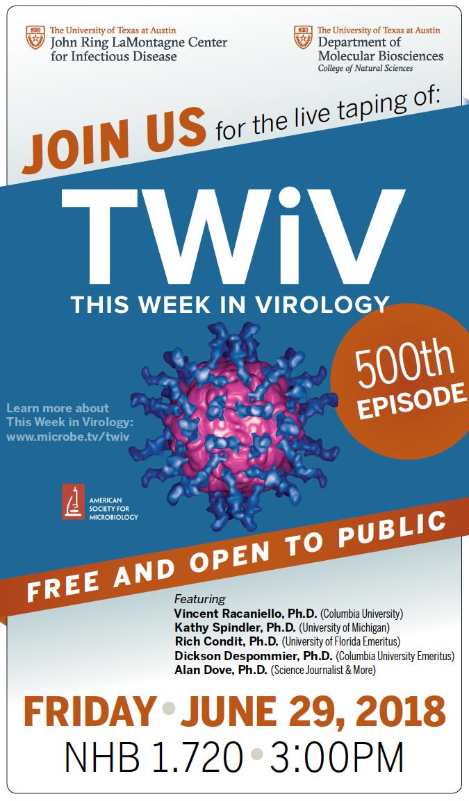 TWiV 500 - June 2018